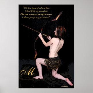 Impresión del poster del monograma de Archer de la