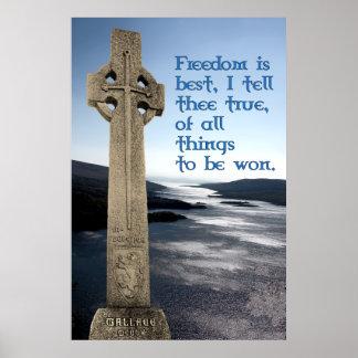 Impresión del poster del monumento de William Wall