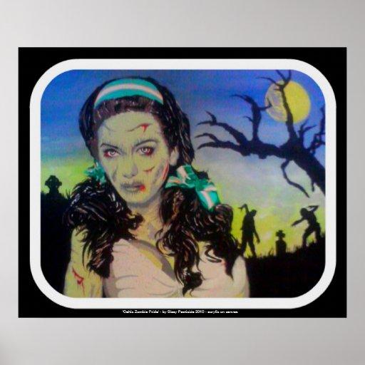 """Impresión del poster """"del orgullo céltico del zomb"""