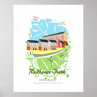 Impresión del poster del parque de Redhouse