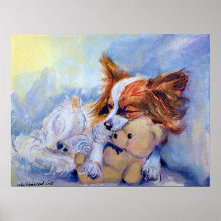 IMPRESIÓN del poster del perro de Papillon