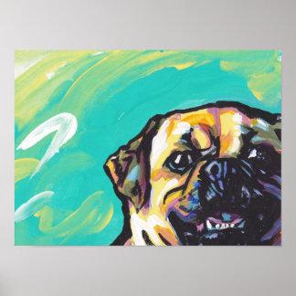 Impresión del poster del perro del arte pop de Pug