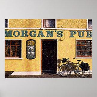 Impresión del poster del Pub de Irlanda Morgan