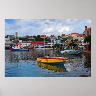 Impresión del poster del puerto de Grenada