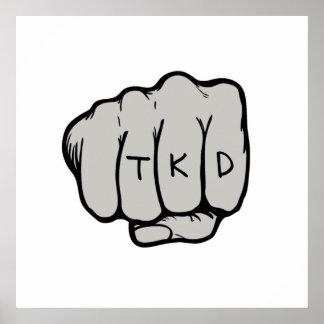 Impresión del poster del puño de TKD
