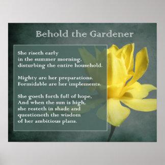 Impresión del poster del regalo del jardinero