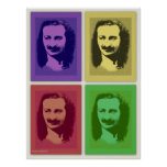 Impresión del poster del retrato del bizcocho