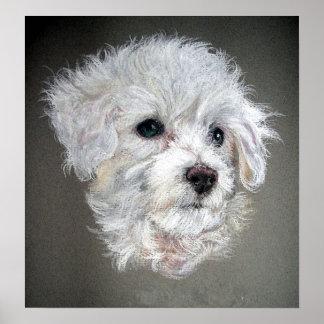 Impresión del poster del retrato del perro de Bich