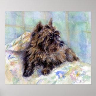 Impresión del poster del retrato del perro de Terr
