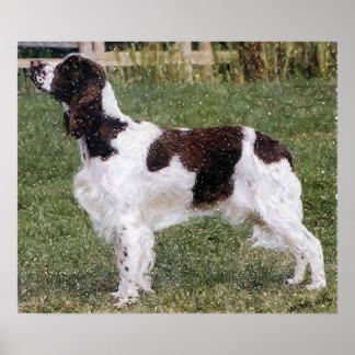 Impresión del poster del retrato del perro del per