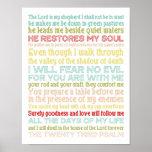 impresión del poster del salmo 23