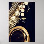 Impresión del poster del saxofón