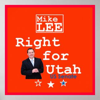 Impresión del POSTER del senado de Utah de las HEC