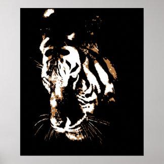 Impresión del poster del tigre - posters del arte