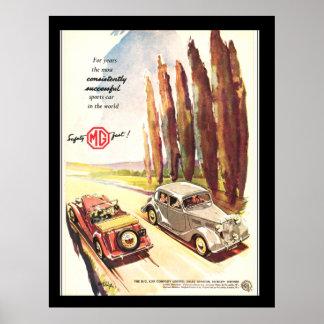 Impresión del poster del transporte de los coches