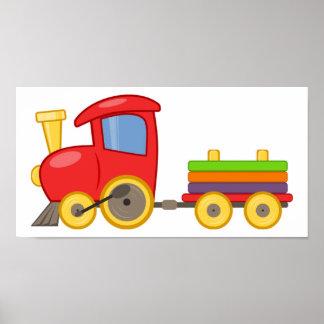 Impresión del poster del tren del dibujo animado