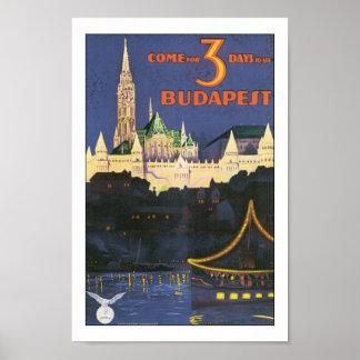 Impresión del poster del viaje de Budapest Hungría