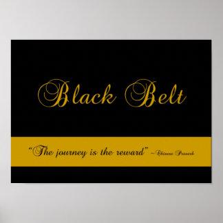 Impresión del poster del viaje de la correa negra