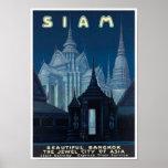 Impresión del poster del viaje de Tailandia del vi
