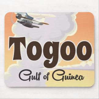 Impresión del poster del viaje de Togo el golfo de Alfombrillas De Ratones