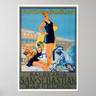 Impresión del poster del viaje del español del vin