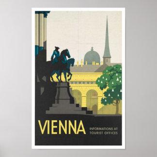 Impresión del poster del viaje del vintage a Viena