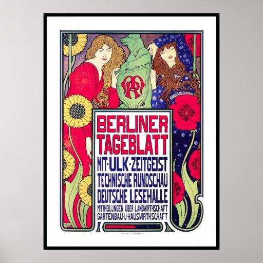 Impresión del poster del vintage: BerllinerTagebla