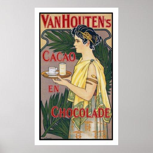 Impresión del poster del vintage: Chocolate de Coc