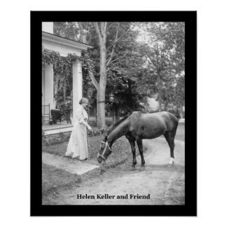 IMPRESIÓN del POSTER del VINTAGE de Hellen Keller