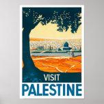 Impresión del poster del vintage de Palestina de l