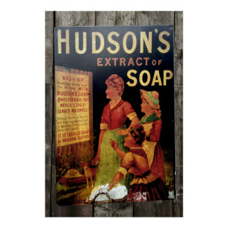 Impresión del poster del vintage del jabón de Huds