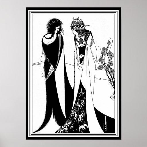 Impresión del poster: Ejemplo de Aubrey Beardsley