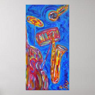 Impresión del poster - jazz azul fresco