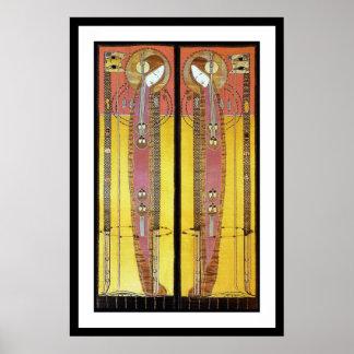 Impresión del poster:  Los paneles bordados