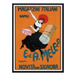 Impresión del poster por Cappiello - Magazzini Ita