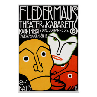 Impresión del poster: Teatro y cabaret de Flederma