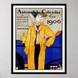 Impresión del poster:  Vintage - calendario auto -
