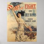 Impresión del préstamo de la libertad de WWI Poster