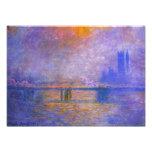 Impresión del puente cruzado de Monet Charing Fotografía