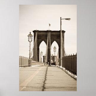 Impresión del puente de Brooklyn Póster