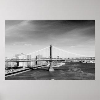 Impresión del puente de Manhattan Póster