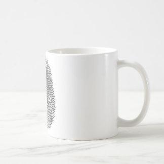 Impresión del pulgar taza clásica