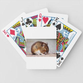Impresión del ratón baraja cartas de poker
