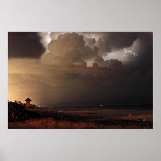Impresión del relámpago de Delray Beach Póster