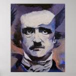 Impresión del retrato de Edgar Allan Poe Póster