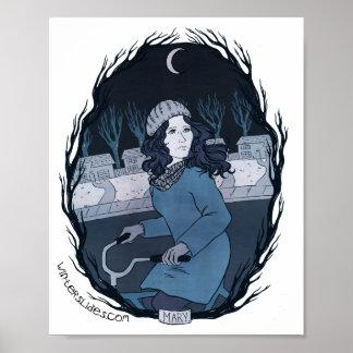 "Impresión del retrato de ""Maria"" - diapositivas de Póster"
