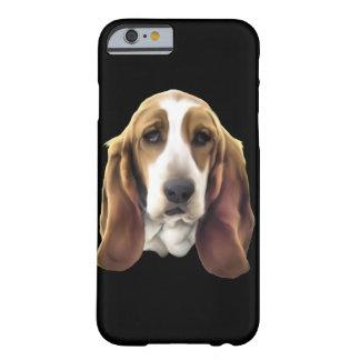 Impresión del retrato del perro de Basset Hound Funda Barely There iPhone 6