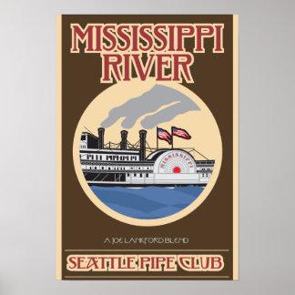 Impresión del río Misisipi Póster
