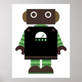 Impresión del robot póster
