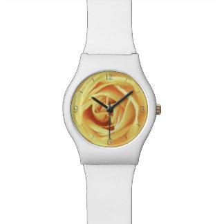 Impresión del rosa amarillo relojes de mano